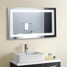 led bathroom mirror illuminated lighted vanity wall mirror horizontal bathroom mirrors