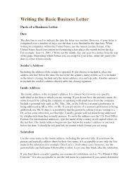 business letter writing samples business letter  business