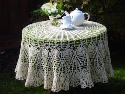 rectangular dining table cover cloth knitted vintage:  images about tablecloths on pinterest filet crochet patterns and doilies crochet