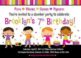 printable sleepover birthday party invitations girls image printable sleepover birthday party invitations girls