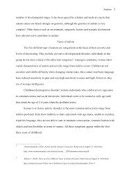 chicago style term paper autism