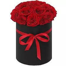 Заказать и купить розы в шляпной коробке в Омске   Букеты из ...