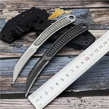 New Camping <b>Outdoor Portable Fixed</b> Neck Knife Steel Hunting ...