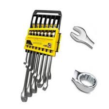 Buy <b>Stanley 14 Pieces</b> Metric Slimline Combination Spanner Set, 1 ...