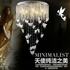 led crystal ceiling lights fixture modern lustre de cristal ceiling lamps butterfly design e14 bulb for cheap lighting fixtures