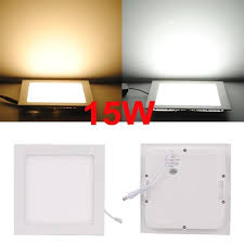 High Bright 15W LED Panel Light Square Recessed <b>Ceiling</b> Light ...