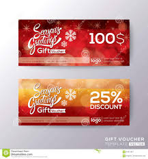 season greeting holiday gift certificate voucher coupon stock season greeting holiday gift certificate voucher coupon