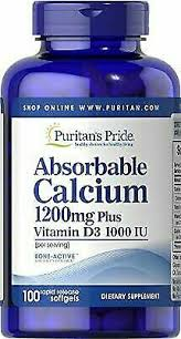 Puritan's Pride <b>Absorbable Calcium</b> 1200 MG With Vitamin D 1000 ...
