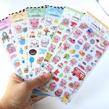 1pcs/pack <b>Kawaii</b> Stationery Stickers <b>Pink Pig Diary</b> Planner ...