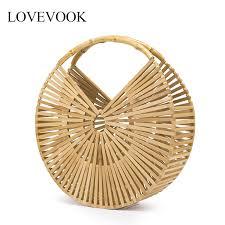 Lovevook <b>bamboo bag</b> women <b>handbag</b> for <b>travel</b> wooden <b>Beach</b> ...