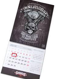 "Календарь на 2018 год ""<b>Bikers</b> Don't Leak Oil"" SINNER's BONES ..."
