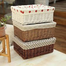 Storage wicker rattan baskets <b>Willow Sweet Rose Flora</b> White ...