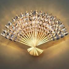 <b>led e14 Funky Fan</b> Shaped Crystal Stainless Steel LED Lamp LED ...