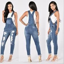 <b>Summer</b> Jumpsuit <b>Women Straps Denim Jeans</b> Bib Pants Overalls ...