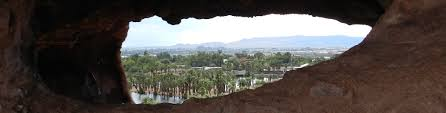 view from the hole in the rock a day away travel look through the rock to see phoenix or at least the phoenix zoo and a