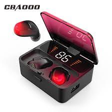 <b>CBAOOO ES01 TWS</b> Bluetooth Earphone V5.0 <b>Touch</b> Wireless ...