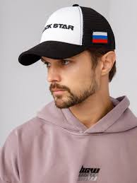 <b>Кепка BLACK STAR</b> FLAG, black/white - BlackStar Wear