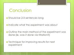 High school lab report conclusion example   sludgeport    web fc  com SlideShare
