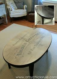 french typography coffee table makeover before after artsychicksrulecom milkpaint chalkpaint chalk paint coffee table