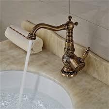Shop Deck Mount <b>Antique Brass</b> Bathroom <b>Faucet Ceramic</b> Handle ...