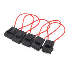 <b>5Pcs 30A</b> Red Inline Wire Mini Power Blade Fuse Holder for ...