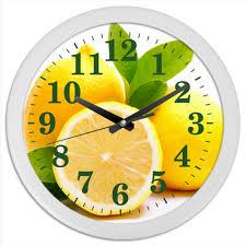 <b>Часы круглые из</b> пластика лимоны #559513 от Анатолий