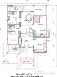 House plan and elevation Sq  Ft   Kerala home design and    House plan and elevation Square Meter   Sq  Ft
