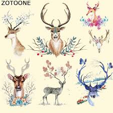 <b>ZOTOONE</b> Iron on Transfer Patch for Clothing <b>Beautiful Flower</b> Deer ...