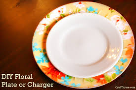 charger plates decorative:  floral plate charger