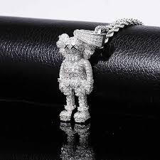 <b>Hip Hop</b> Cartoon <b>Monkey</b> Pendant Necklace For Men Women Micro ...