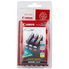 Картридж Canon <b>CLI</b>-<b>521 C</b>/M/Y Multipack 2934B010 | www.gt-a.ru