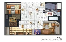 dormitory design by ashley zard at coroflot com designed for students majoring in the arts each floor is comprised of four suites four students in each suite students share a common area equipped