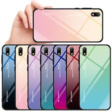 Luxury Gradient Tempered Glass Case For Huawei Honor 8S KSE ...