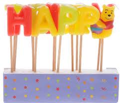 <b>Procos Свечи</b>-<b>буквы</b> для <b>торта</b> детские Винни Happy Birthday ...