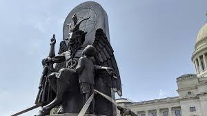 Satanic Temple Protests Ten Commandments Monument With Goat ...