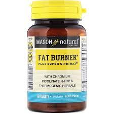 Mason Natural, <b>Fat Burner Plus Super</b> Citrimax, 60 Tablets ...