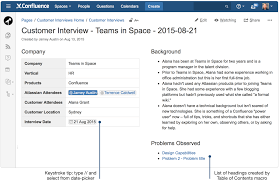 creating insightful customer interview pages atlassian documentation note the list of headings created by the macro the information these heading links are pointing to is described in the next section