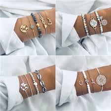 Modyle <b>2019</b> New <b>Bohemian Marble Stone</b> Beads Bracelet Set For ...