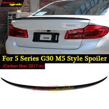 for BMW <b>g30 spoiler Rear</b> Trunk <b>Wing</b> tail <b>M5</b> Look Carbon Fiber ...