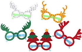 BESTOYARD Glitter Christmas Tree Elk Glasses ... - Amazon.com