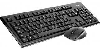 Комплект мышь + клавиатура <b>A4Tech 7100N</b>, черный — купить в ...