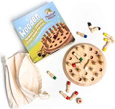 Wooden Memory and Color Matching Game for Kids ... - Amazon.com