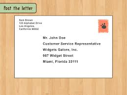 how to write a business letter sample letters wikihow