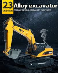 Professional Excavator Model <b>1:14</b> 2.4G Full Alloy 23CH die cast ...