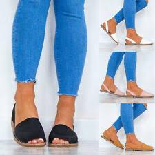 <b>peep toe</b> flat sandals products for sale | eBay