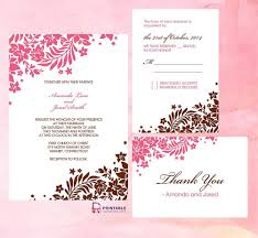 50 absolutely stunning wedding invitation templates all for you 47 pink and brown foliage wedding invitation