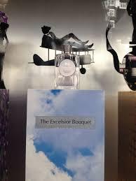 Harrods window, April 2015, <b>Atkinsons Excelsior bouquet</b>