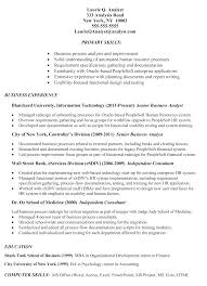 resume sample  example of business analyst resume targeted to the    click here to view resume in new window  lt