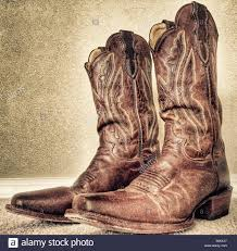 cowgirl boots stock photos cowgirl boots stock images alamy worn cowboy boots stock image