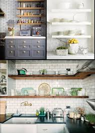 Kitchen Open Shelves Kitchen Attractive And Fabulous Open Kitchen Shelving Open